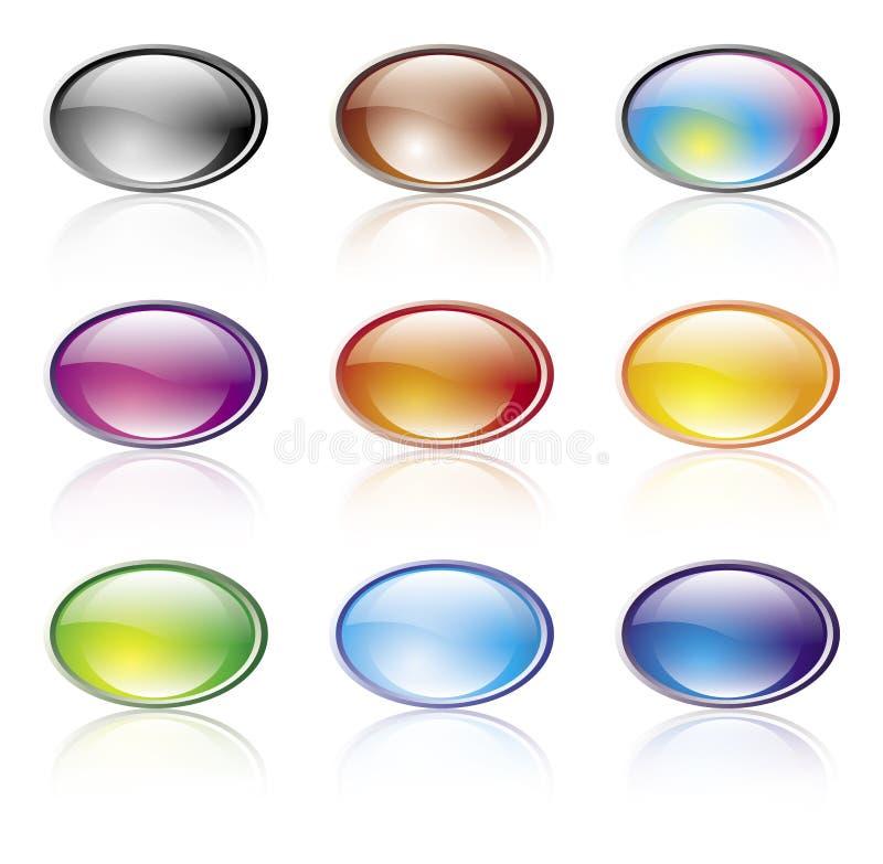 Elementos brillantes del color ilustración del vector