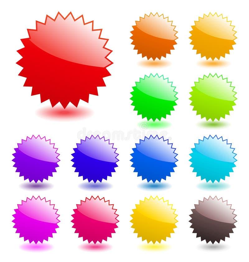 Elementos brillantes del Web. ilustración del vector