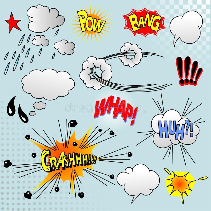 Elementos cómicos ilustração royalty free