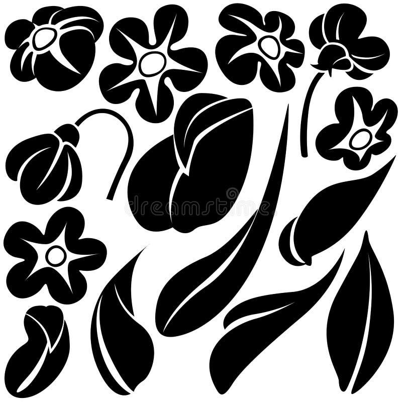 Elementos C de la flor libre illustration