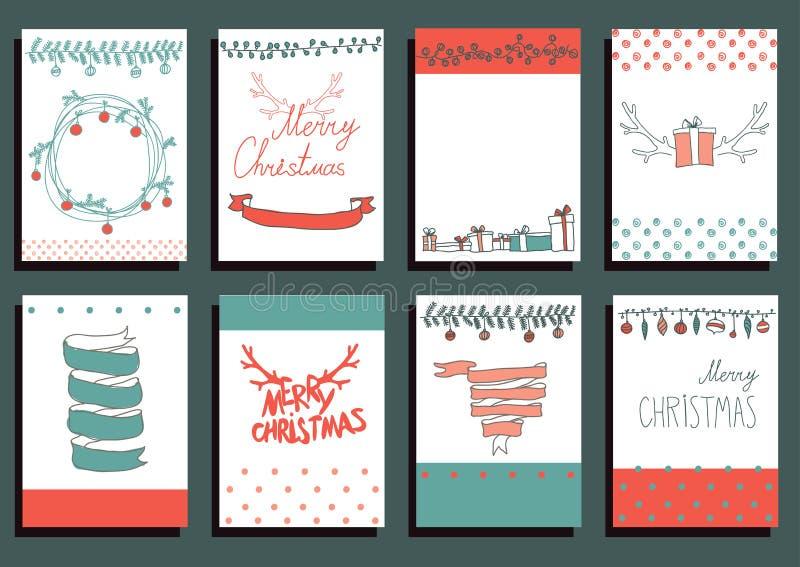 Elementos caligráficos del diseño de la Navidad determinada del vector libre illustration