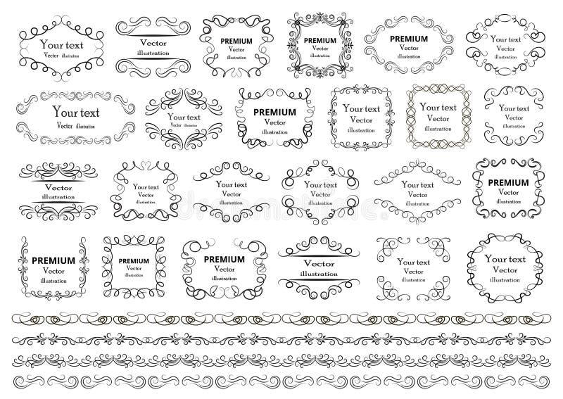 Elementos Caligráficos Del Diseño Los Remolinos Decorativos O Las ...