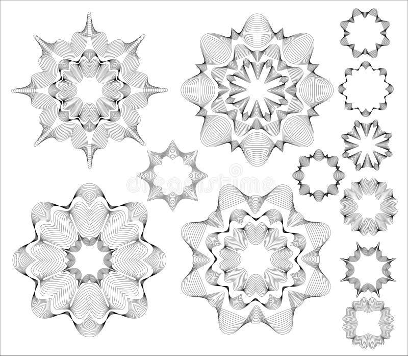 Elementos circulares do projeto. ilustração do vetor