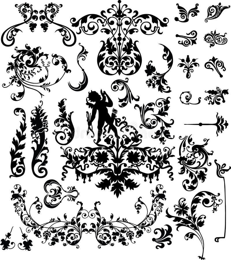Elementos clássicos do projeto ilustração do vetor