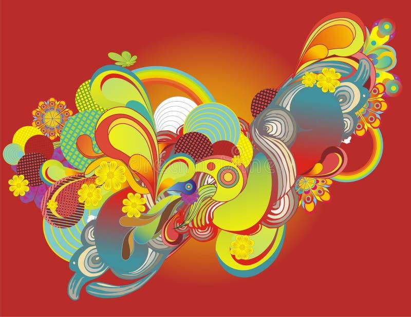 Elementos coloridos frescos do projeto ilustração do vetor