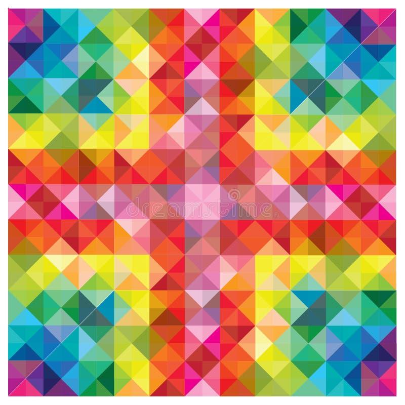 Elementos Coloridos Modernos No Teste Padrão Abstrato Fotografia de Stock Royalty Free