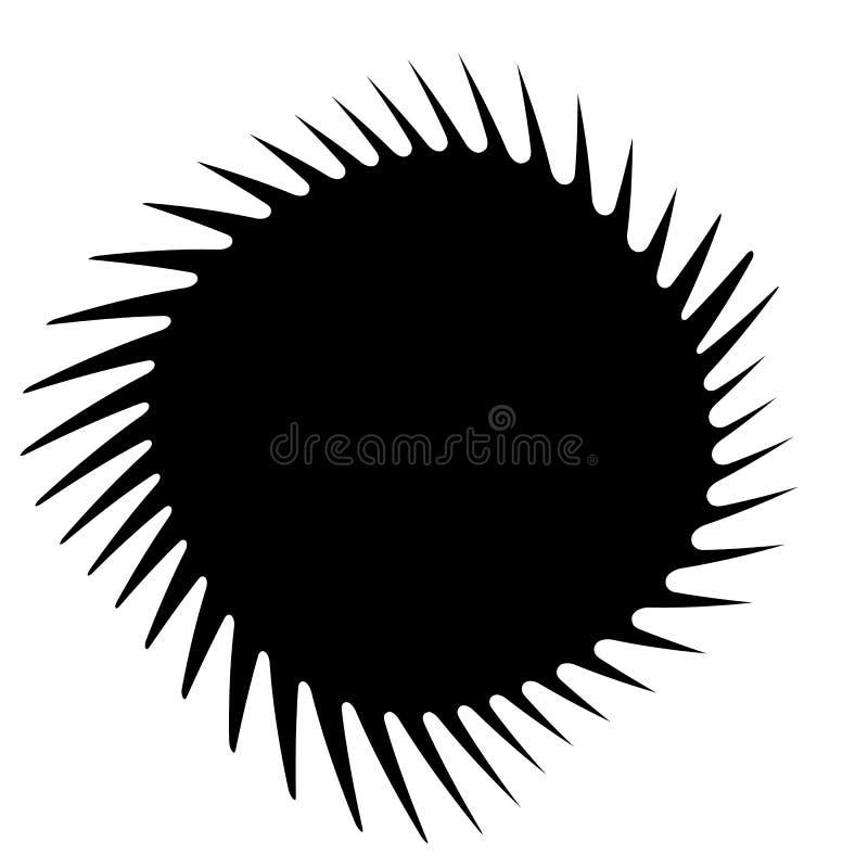 Elementos com distorção de giro, efeito espiral Geo abstrato ilustração royalty free