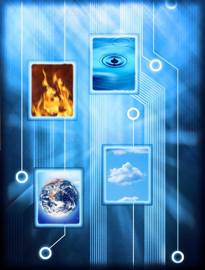Elementos conectados da natureza imagens de stock