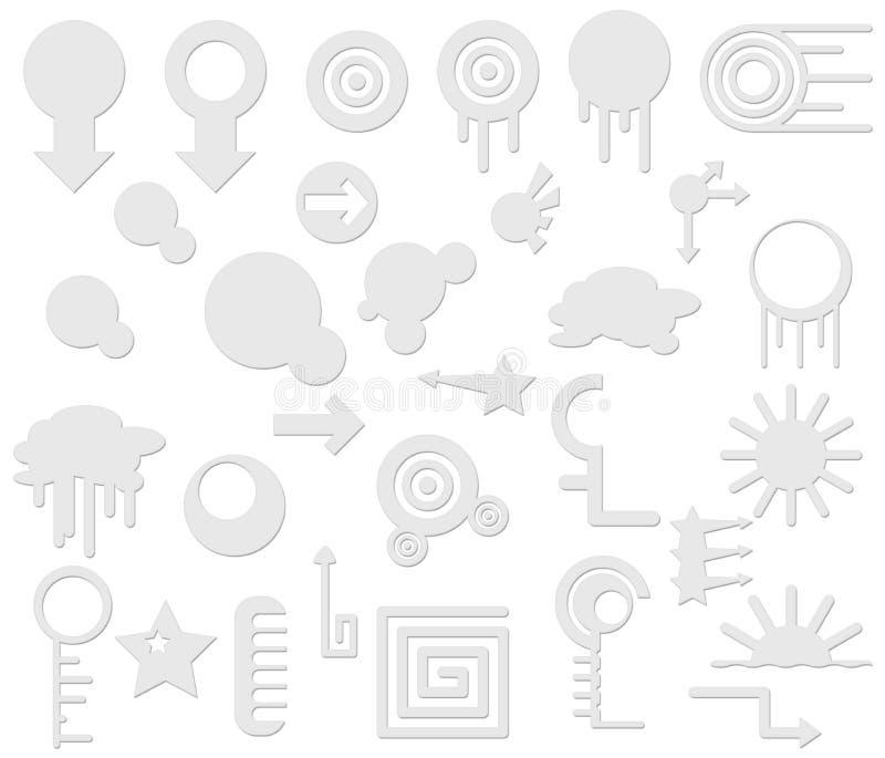 Elementos contemporáneos stock de ilustración