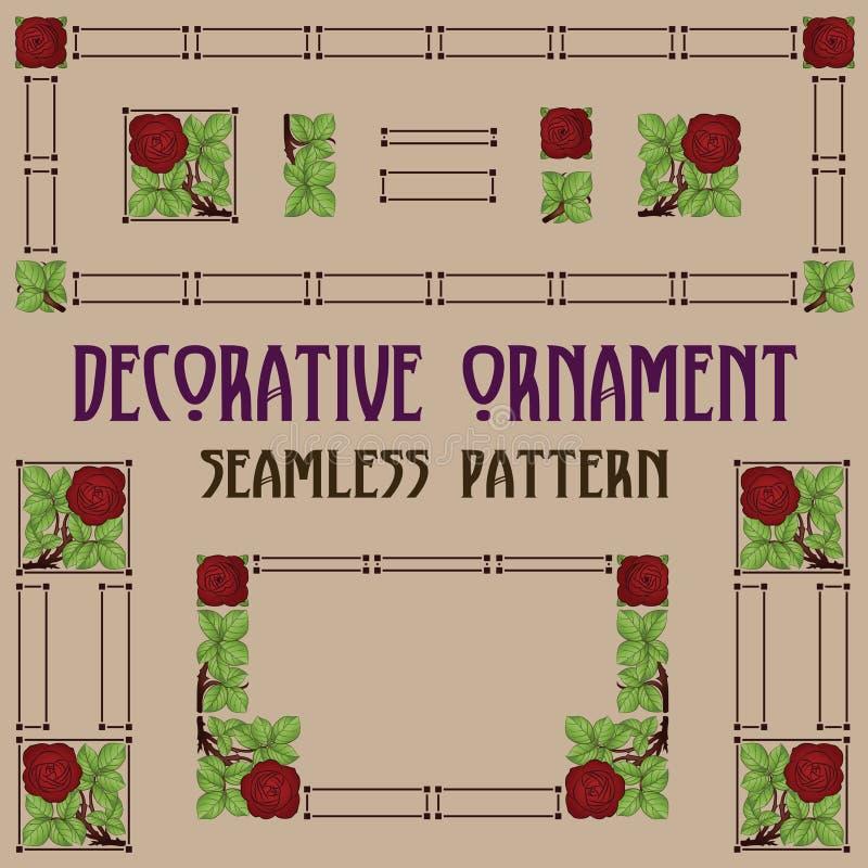 Elementos cor-de-rosa sem emenda do vetor para criar o fra ilustração royalty free