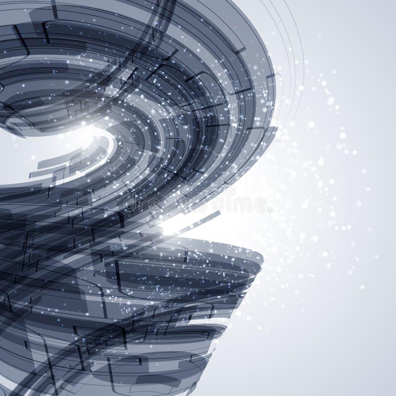Elementos curvados azul ilustración del vector