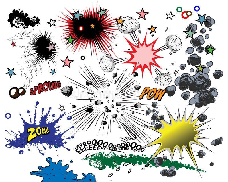 Elementos da banda desenhada ilustração stock