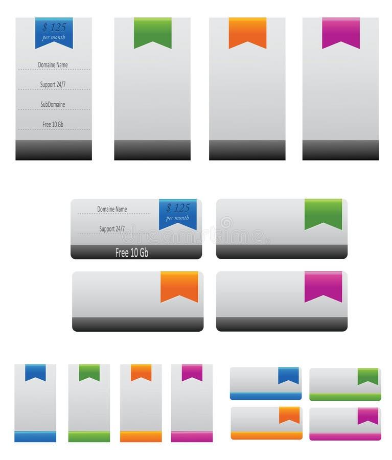 Elementos da bandeira ilustração do vetor