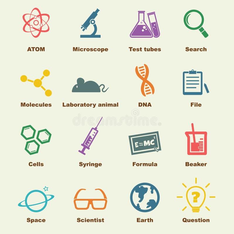 Elementos da ciência ilustração royalty free
