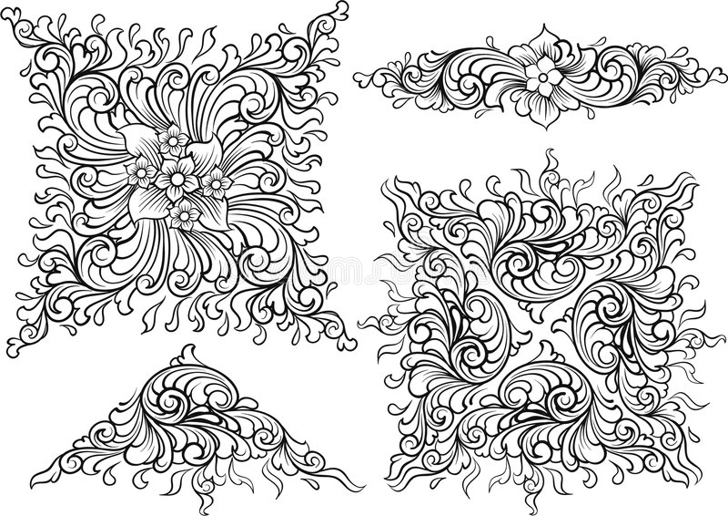Elementos da decoração do vetor ilustração do vetor