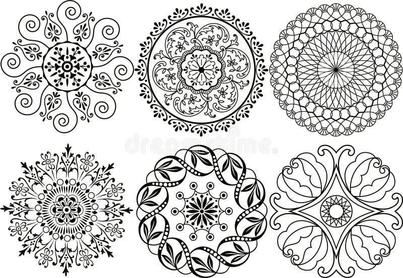 Elementos da decoração do vetor ilustração stock