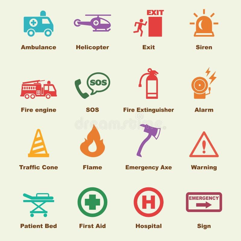Elementos da emergência ilustração royalty free