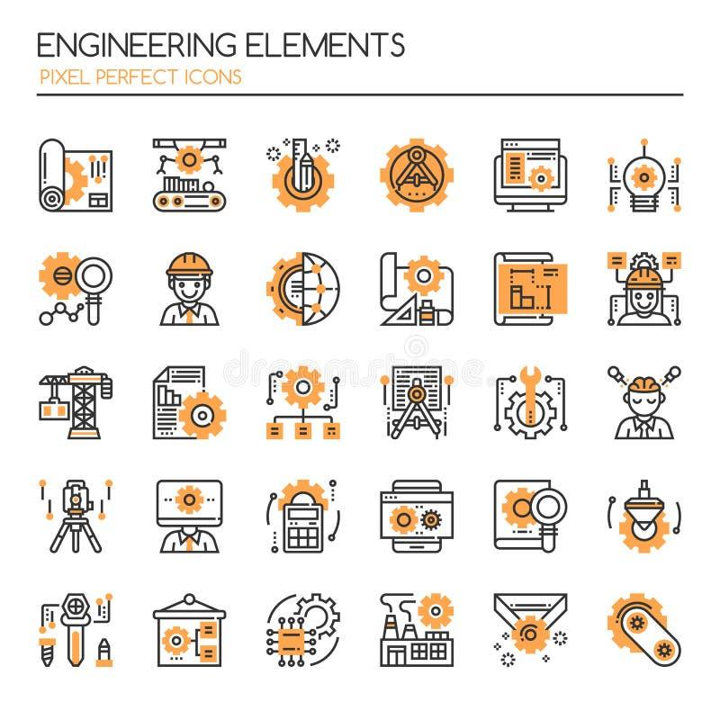 Elementos da engenharia ilustração royalty free