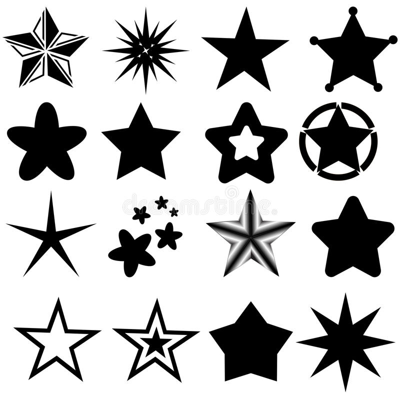 Elementos da estrela ilustração stock