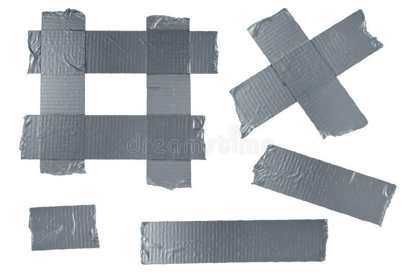 Elementos da fita do duto ilustração do vetor