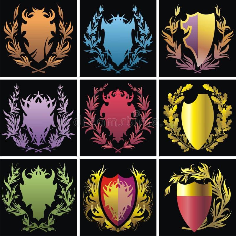 Elementos da heráldica ilustração royalty free