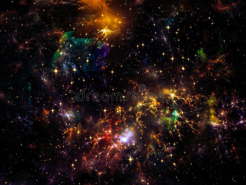 Elementos da nebulosa ilustração do vetor