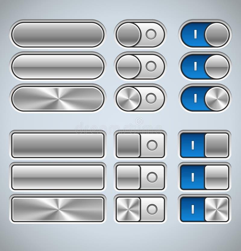 Elementos da relação do metal ilustração stock