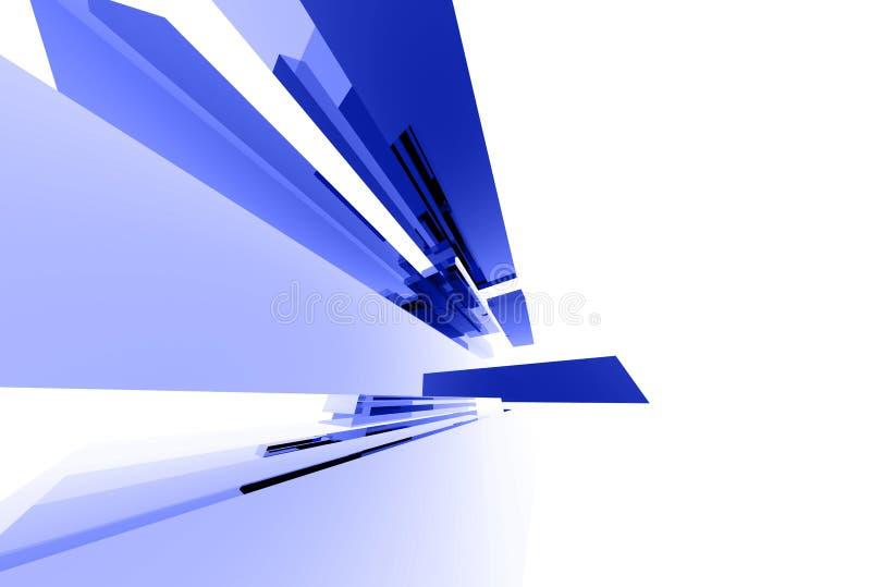 Elementos de cristal abstractos 040 ilustración del vector
