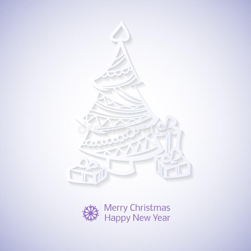 Elementos de encaje de la circular de la Navidad del papel del vector stock de ilustración