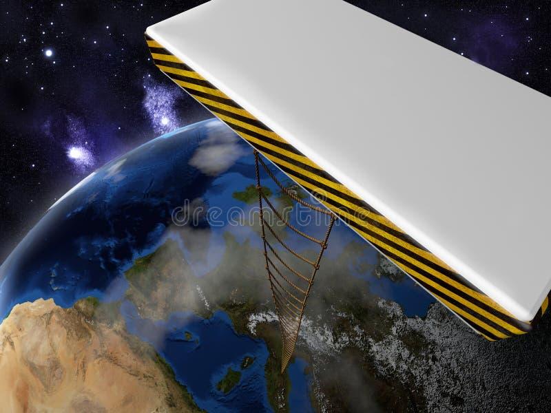 Elementos de esta imagen equipados por la NASA ilustración del vector