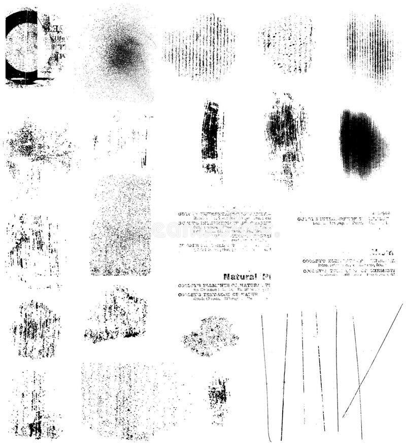 Elementos de Grunge ilustração stock