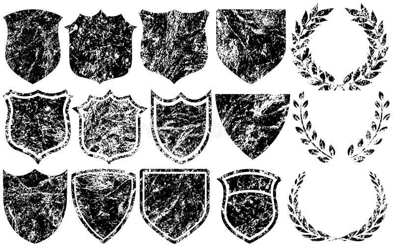 Elementos de Grunge para las insignias libre illustration
