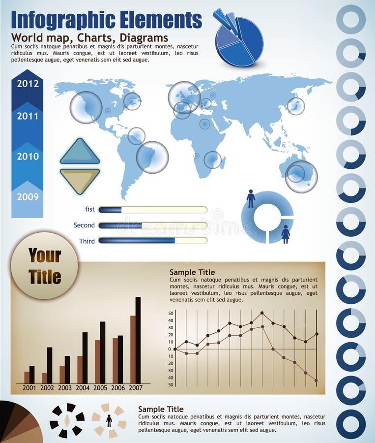 Elementos de Infograph libre illustration