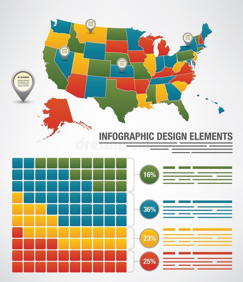 Elementos de Infographic libre illustration