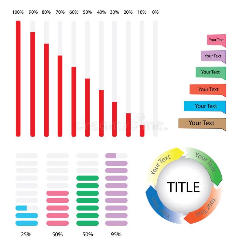 Elementos de Infographic Carta de torta imagem de stock royalty free