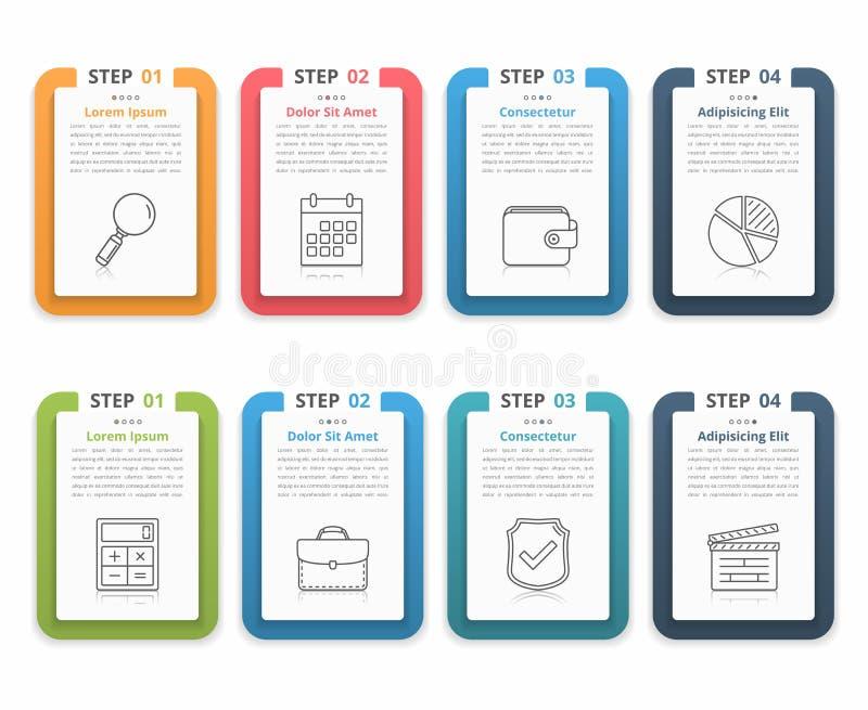 Elementos de Infographic com números e texto ilustração royalty free