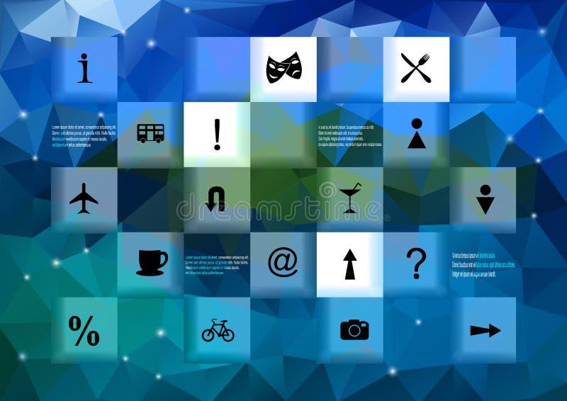Elementos de Infographic con el fondo del triángulo ilustración del vector