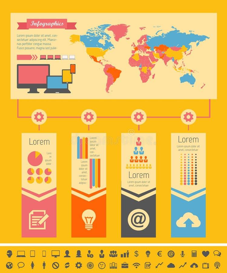 Elementos de Infographic de la industria de IT stock de ilustración