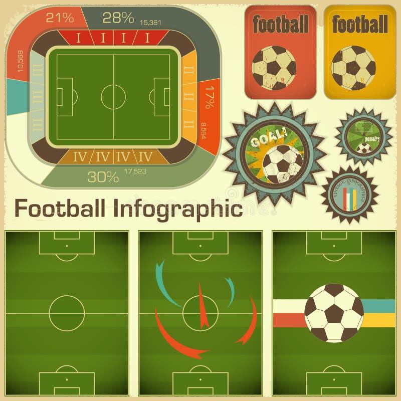 Elementos de Infographic del balompié libre illustration