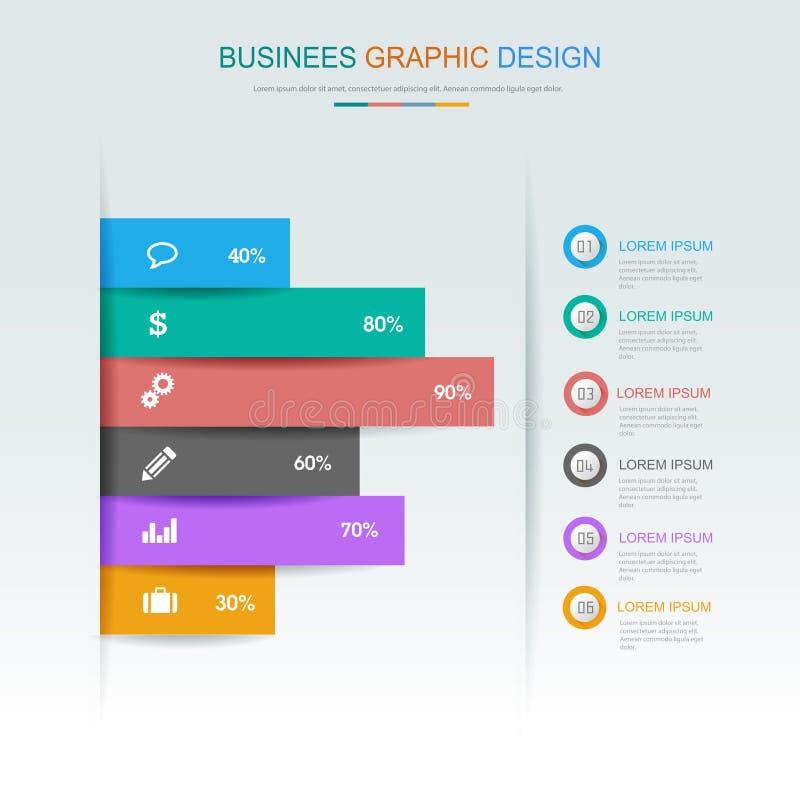 Elementos de Infographic del negocio del círculo - infographics, pasos y opciones de proceso, diagrama del círculo, diagramas del libre illustration