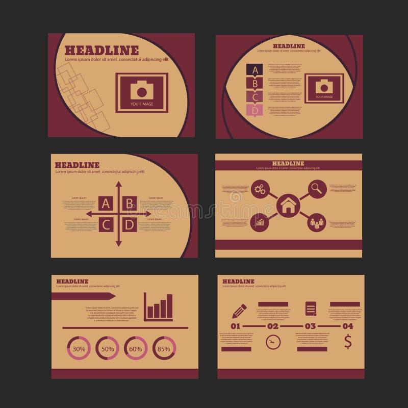 Elementos de Infographic e molde de múltiplos propósitos da apresentação do ícone ilustração stock