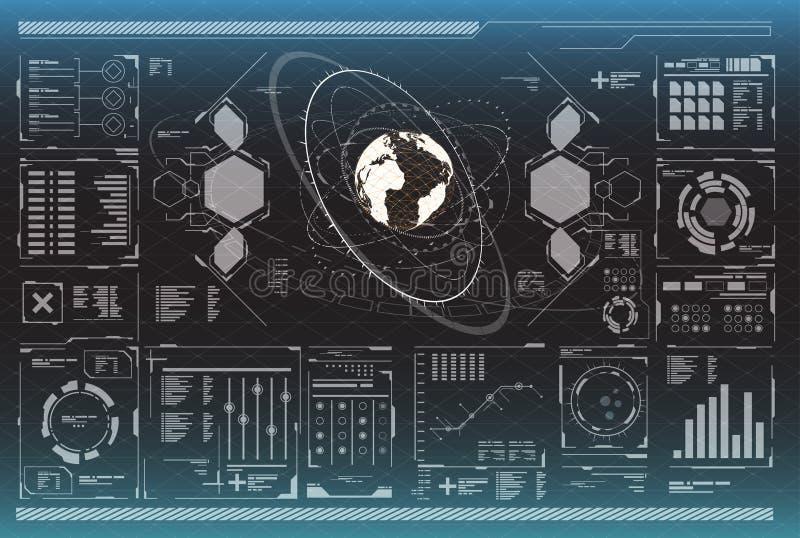 Elementos de Infographic Elementos gráficos de la cabeza-para arriba para el web y el app Interfaz de usuario futurista Gráfico v libre illustration