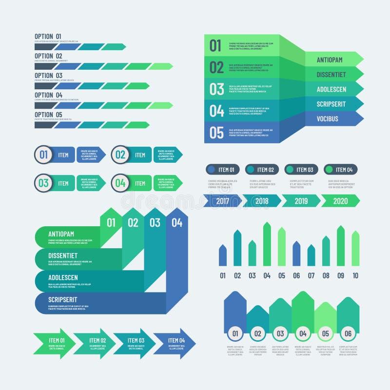 Elementos de Infographic La inversión moderna de los gráficos traza diagramas de la información Plantilla gráfica del vector de l stock de ilustración