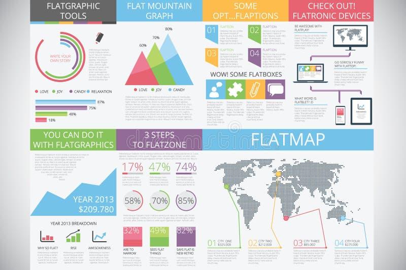 Elementos de Infographic na forma moderna: estilo liso ilustração royalty free