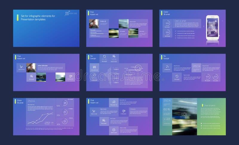 Elementos de Infographic para las plantillas de la presentación libre illustration