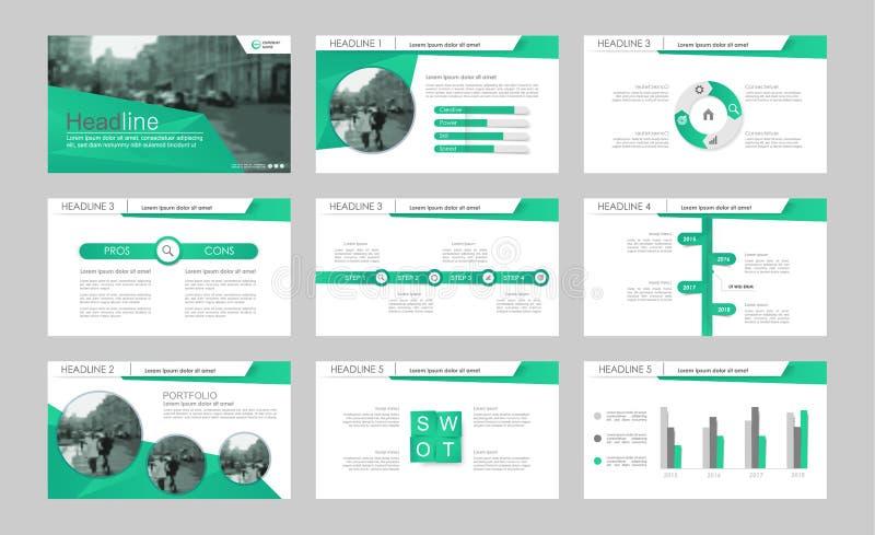 Elementos de Infographic para las plantillas de la presentación ilustración del vector