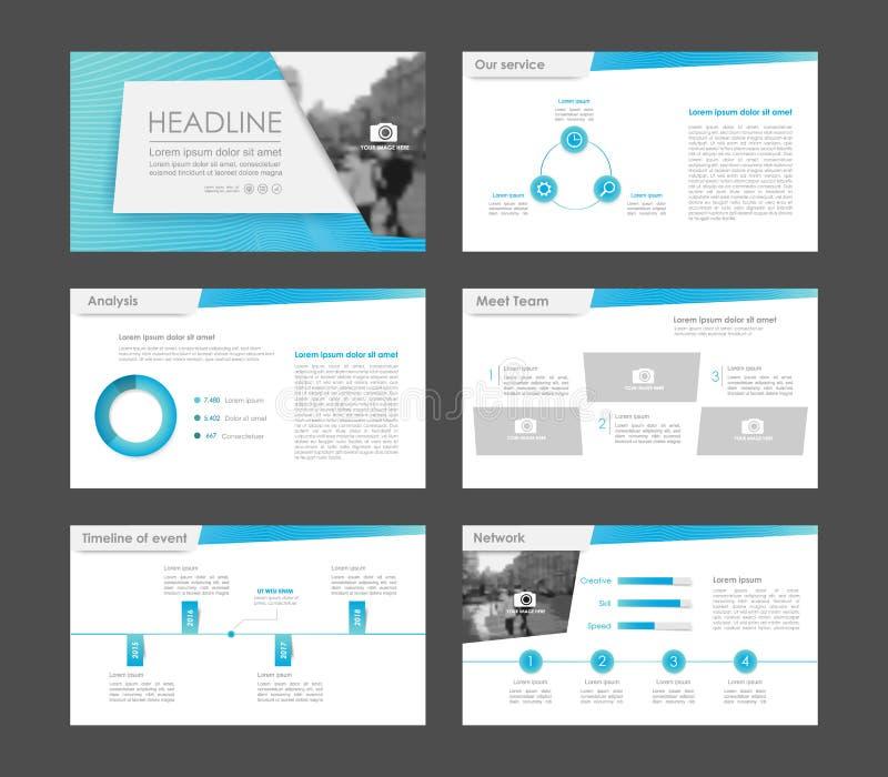 Elementos de Infographic para las plantillas de la presentación stock de ilustración