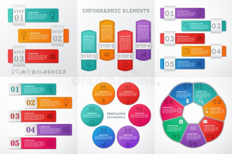 Elementos de Infographic para o texto e o folheto Ilustração do vetor ilustração royalty free
