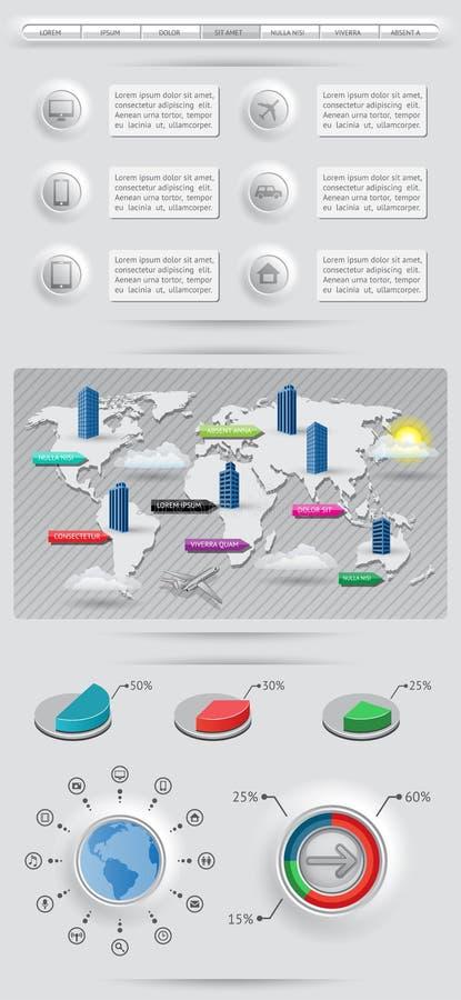 Elementos De Infographics Fotografia de Stock Royalty Free