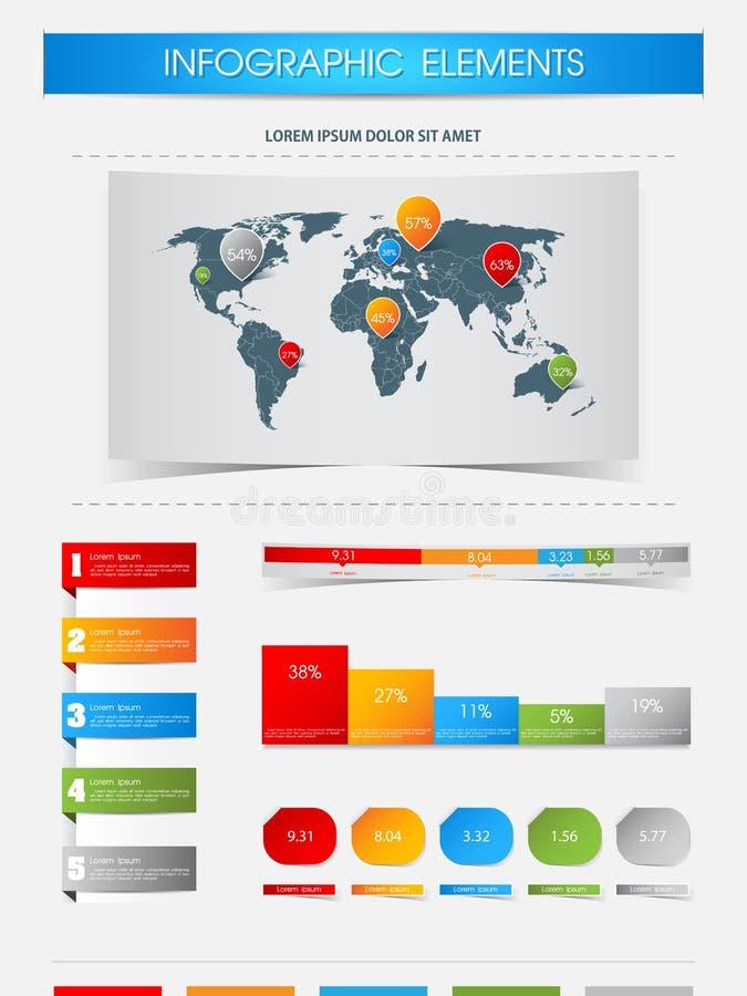 Elementos de Infographics ilustração do vetor